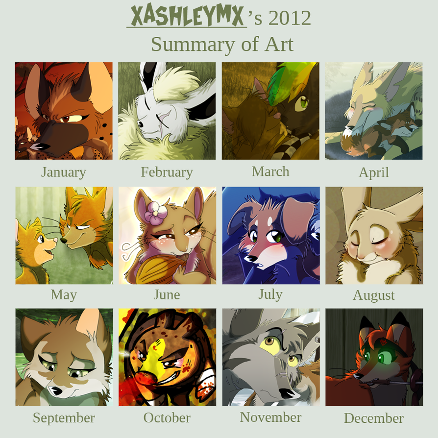 Art Summary 2012 by xAshleyMx