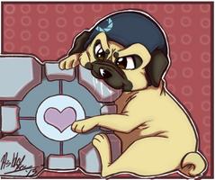 Khaotic Portal Pug by TheCynicalHound