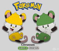 Fakemon: Citrussum by TheCynicalHound