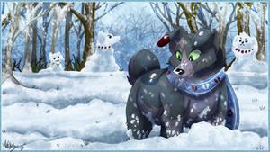 Winter Wonderland Frolic by TheCynicalHound