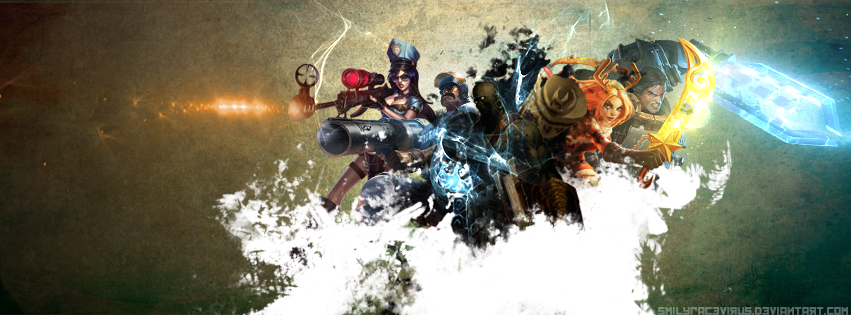 League of Legends - Facebook Cover by SMILYFACEvirus on