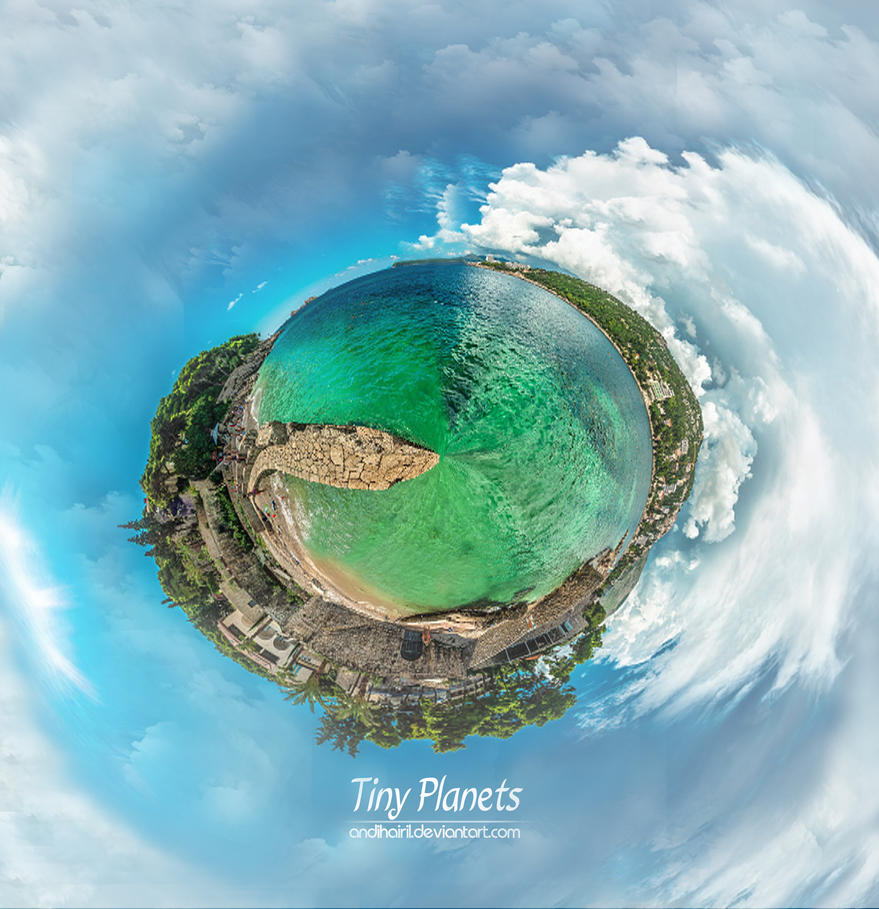 Tiny Planets by AndiHairil on DeviantArt