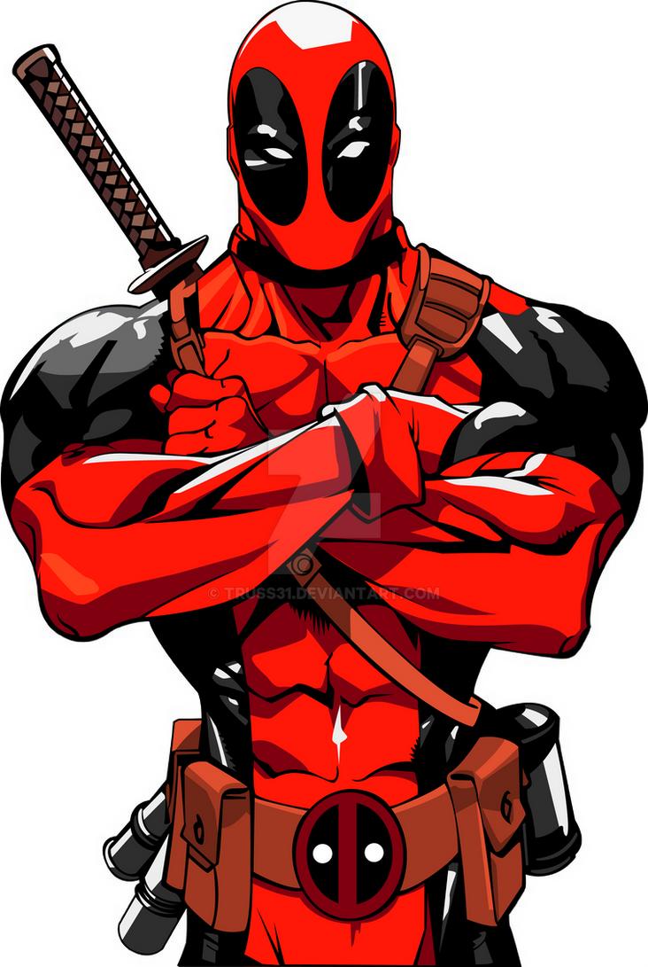 Marvel Deadpool Ausmalbilder Gratis: Deadpool Vector By Truss31 On DeviantArt