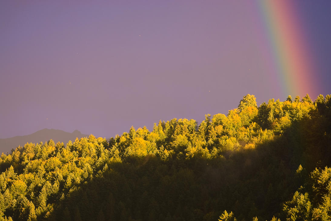 Rainbow in the evening 1 by MarcZingg