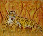 Yellow Tigers by art1st1cDes1gn