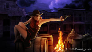 Western Night by art1st1cDes1gn