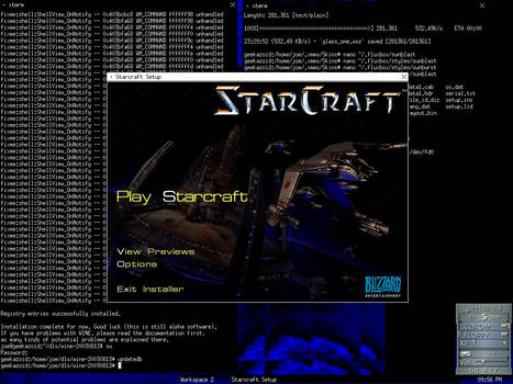 Starcraft on Linux
