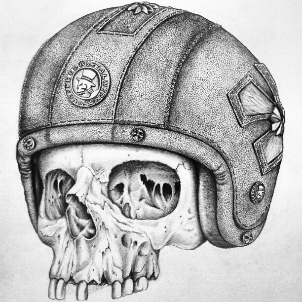 Pencil drawing deathrider by fourspeedindonesia