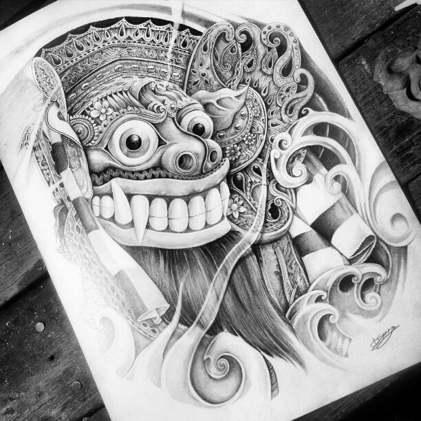 barong pencil drawing by fourspeedindonesia on deviantart. Black Bedroom Furniture Sets. Home Design Ideas