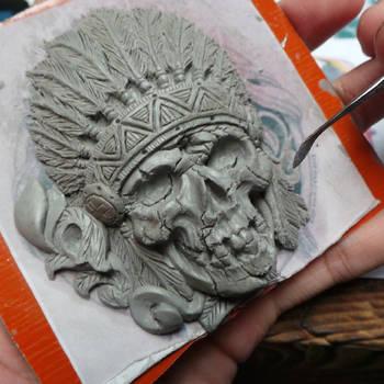 Sagamore buckle sculpture WIP by fourspeedindonesia