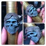 Aeronaut Skull Ring sculpture