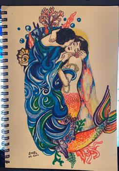 kiss mermaid version
