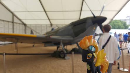 Spitfire with a a supermarine Spitfire