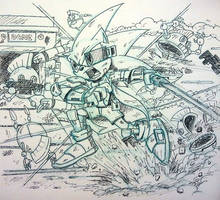 Jedi Sonic The Hedgehog Comic Study by koude123