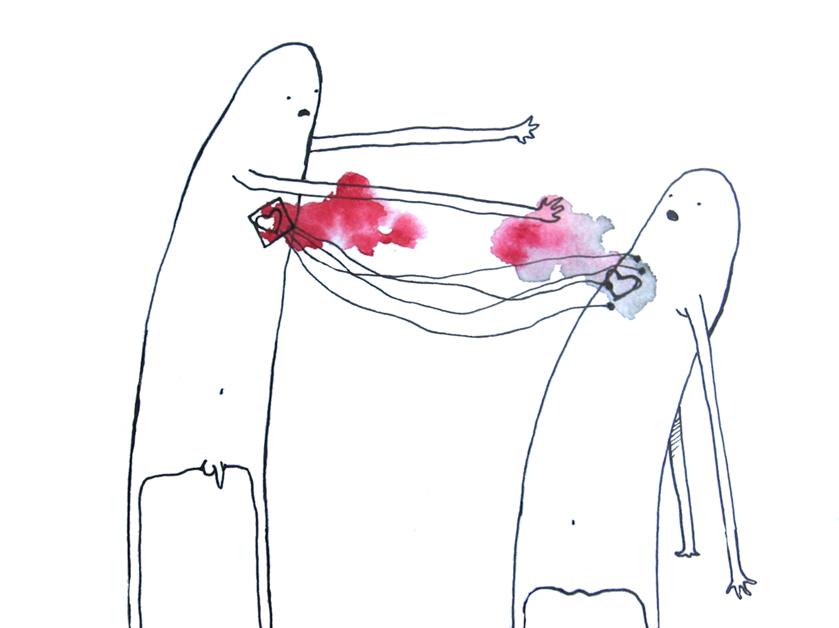 Hearts in love by Kakaponi