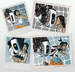 portal - polaroids from aperture doodle thing