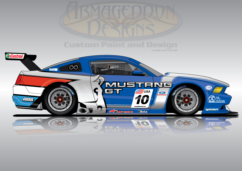 Ford Mustang GT3 by ArmageddonDesigns on DeviantArt