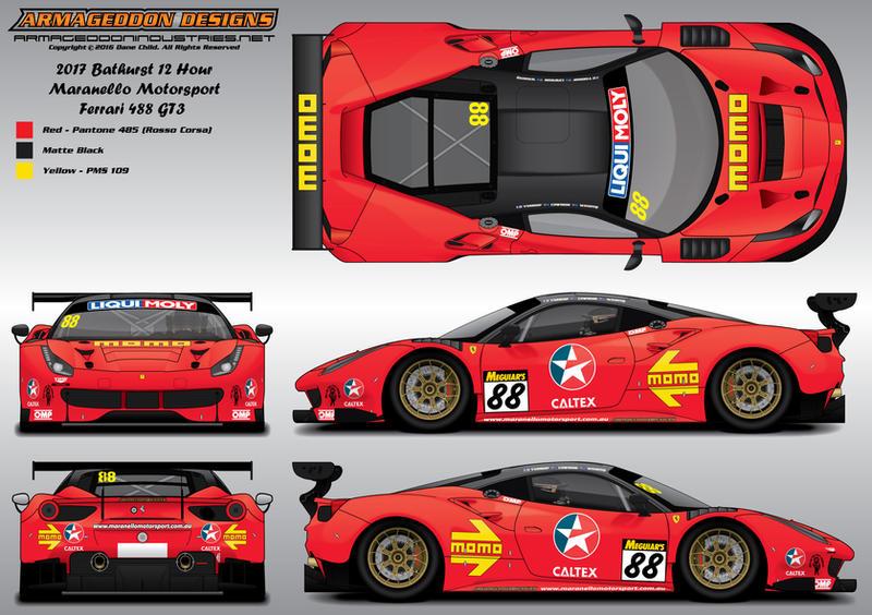 Maranello Motorsport Ferrari 488 GT3 Livery by ArmageddonDesigns