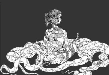Snakes nap by carmya