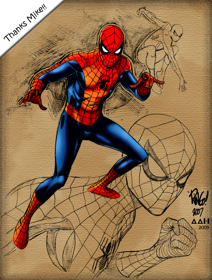 Spiderman Ringo Sketch by alxelder