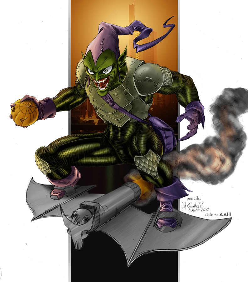 Green Goblin tribute colors by alxelder