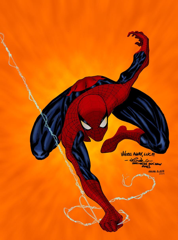 Spiderman on fire by alxelder on DeviantArt