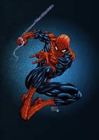 Spiderman Swinging color by alxelder