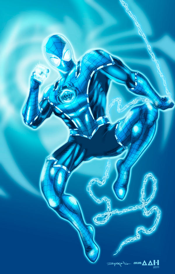 Blue Lantern Spiderman Fan Art Alxelder Deviantart