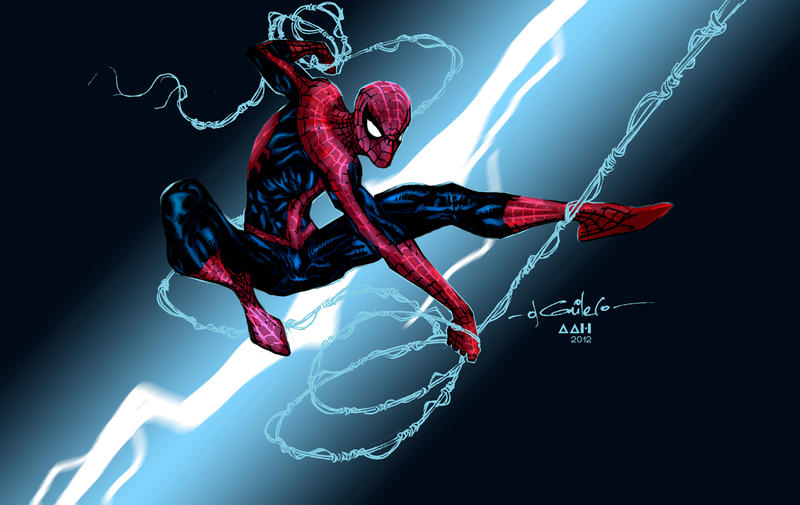 Spidey Sketch Color Collab by alxelder