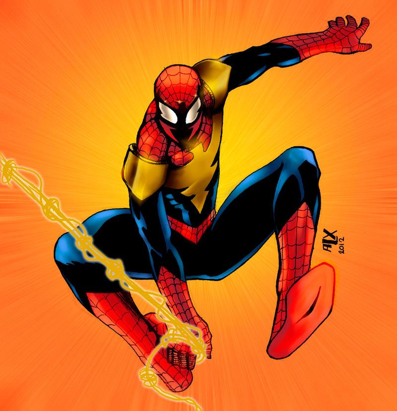 Blue Lantern Spiderman... Mangaverse Spider Man Wallpaper