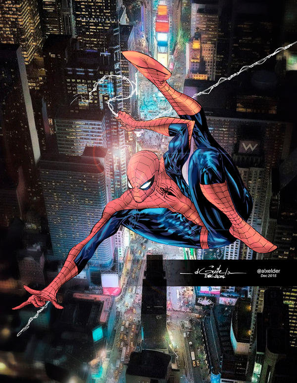 Amazing Spidey Dec18th2014 By Spiderguile Colors A by alxelder