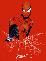 Spidey Ramos Sketch Color by alxelder