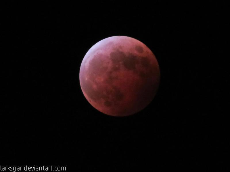 Total lunar eclipse by larksgar