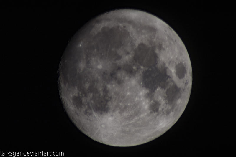 Digiscoping of the Moon by larksgar