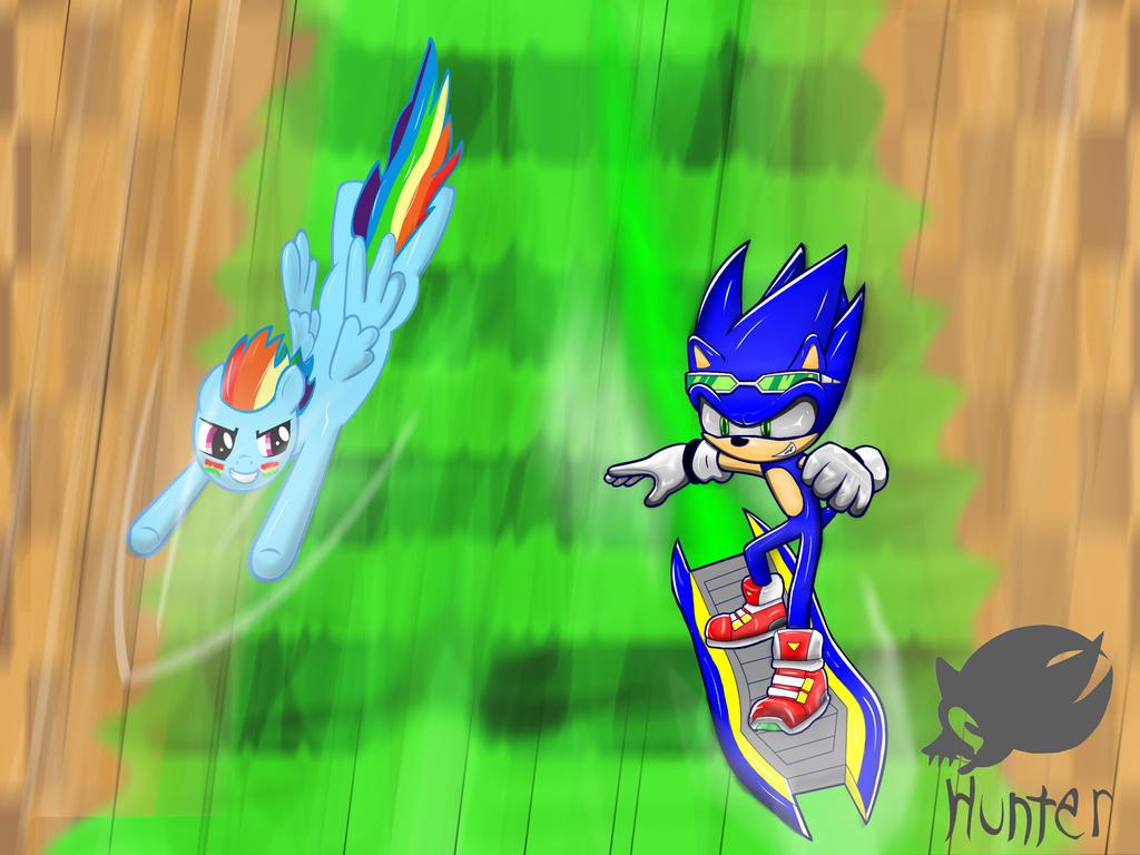 Sonic Vs Rainbow Dash by hunter730