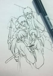 Inktober - Rurouni Kenshin by Takai-dono