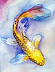 Butterfy Koi Watercolor