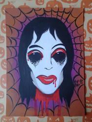 Vampire girl - Vintage Mask by KupKake666
