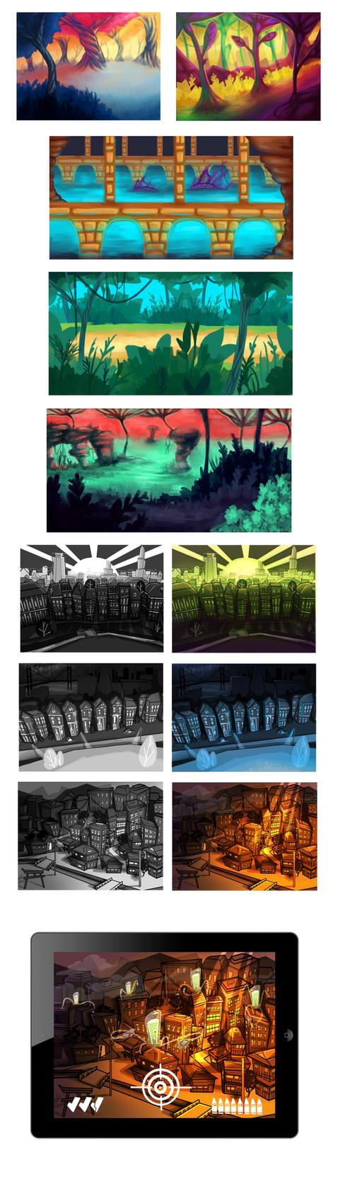 Backgrounds dump by Olievlek