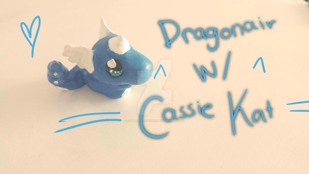 Lil' Dragonair - Pokemon Clay Craft by catscratch10101