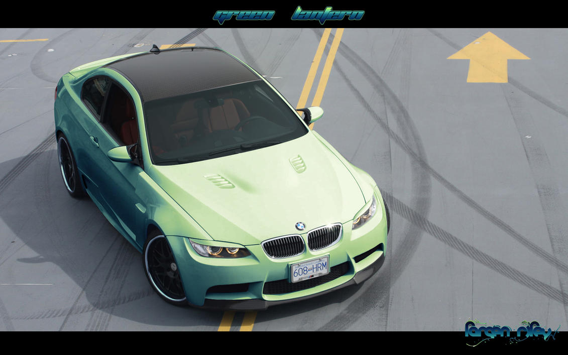BMW M3 E92 'GREEN LANTERN' by GraphXtravaganza