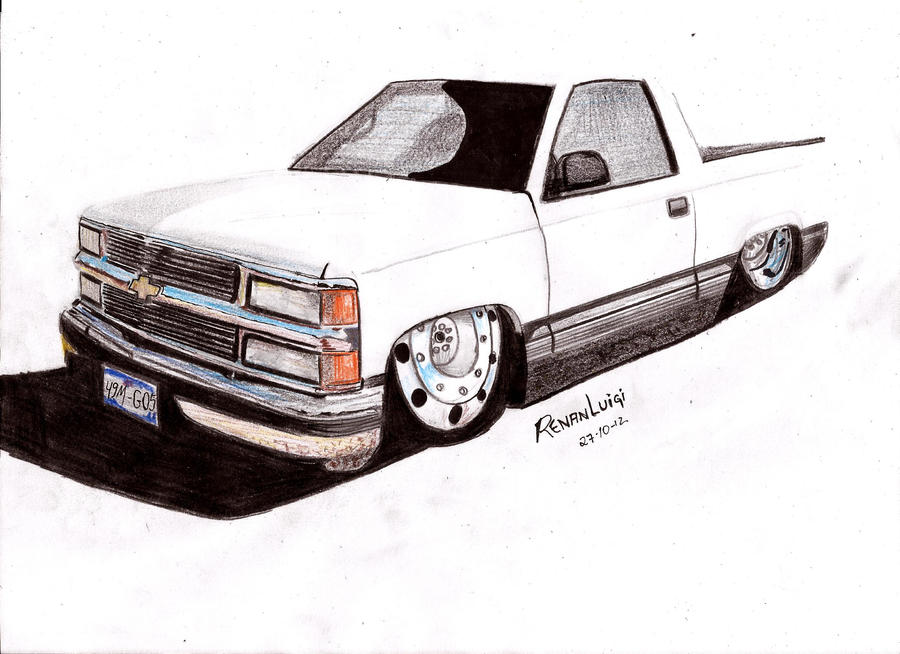 chevrolet silverado draw by renanluigi on deviantart. Black Bedroom Furniture Sets. Home Design Ideas