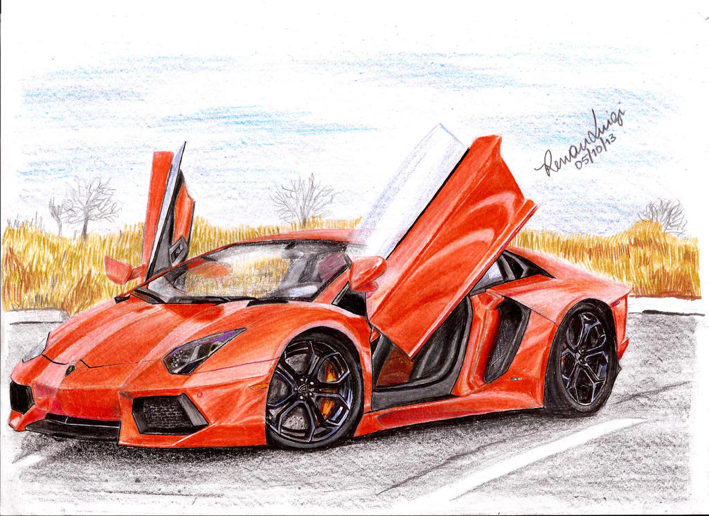 Lamborghini Aventador Draw by RenanLuigi on DeviantArt