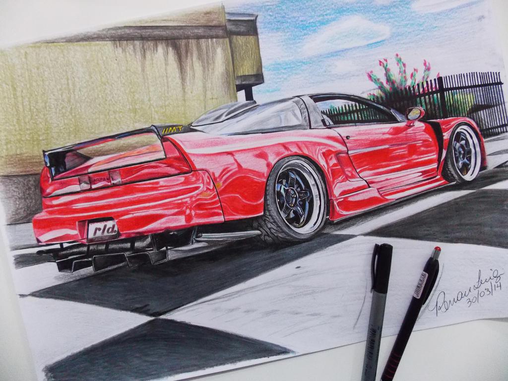 Acura NSX '95 Draw - Desenho by RenanLuigi