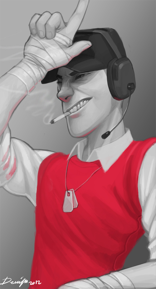 TF2: Hey chucklehead by Denimecho