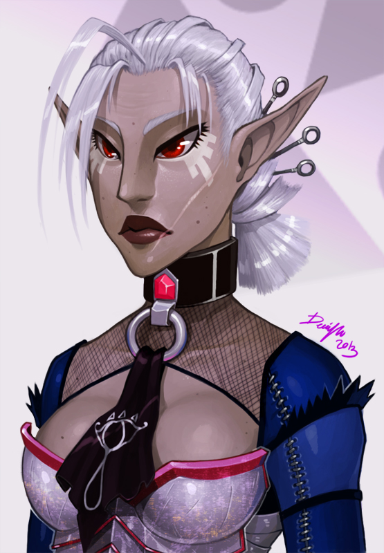 LoZ: Impa portrait by Denimecho