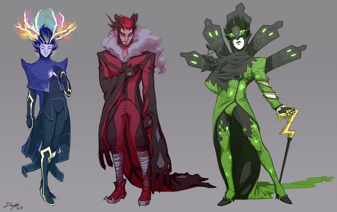pkmnXY: Yggrdasil Trio designs by Denimecho