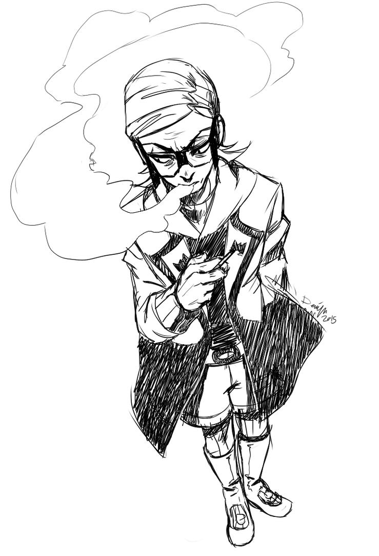 pkmnORAS: Smoking by Denimecho