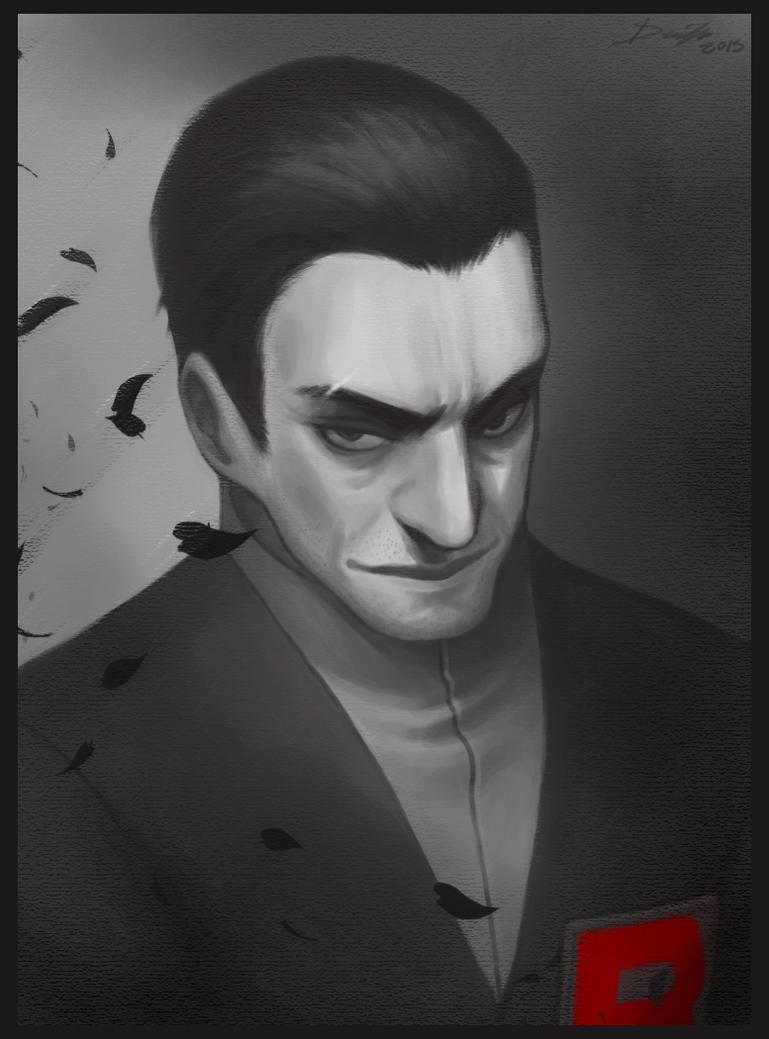pkmnRBG/GSC: Giovanni portrait by Denimecho