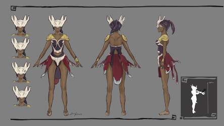 Turnaround - Character Design Huntress by Lenuk